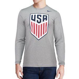 US Soccer Men's Gray Crest DriFit T-Shirt